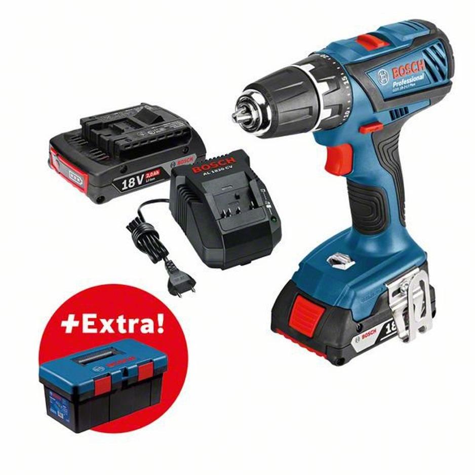 1133d9755a864 Bosch AKU skrutkoavač GSR 18-2-LI Plus+ToolBox PRO